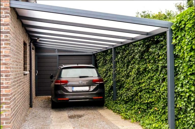 carport in aanbouw gemaakt en geplaatst door Vandendijk